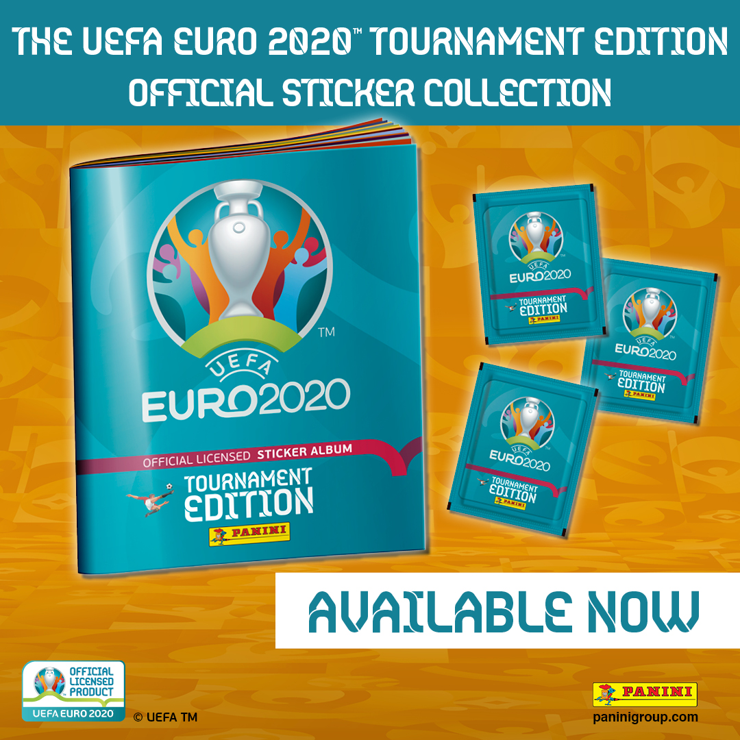 Euro 2020 stk social square album and packet INT